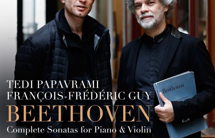 EVCD037 François-Frédéric Guy Tedi Papavrami Sonatas violin piano Beethoven